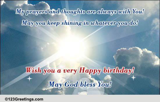 May God Bless You Free Birthday Blessings ECards Greeting Cards 123 Greetings
