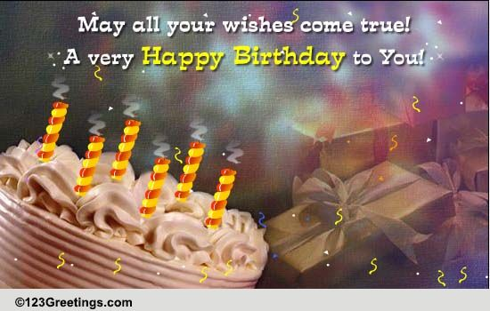 May All Your Wishes Come True Free Extended Family Ecards