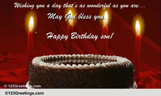 Happy Birthday Son In Law Free Extended Family ECards