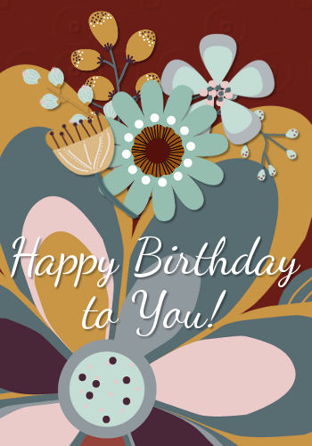 Bright Happy Birthday Flowers Free Flowers ECards Greeting Cards 123 Greetings