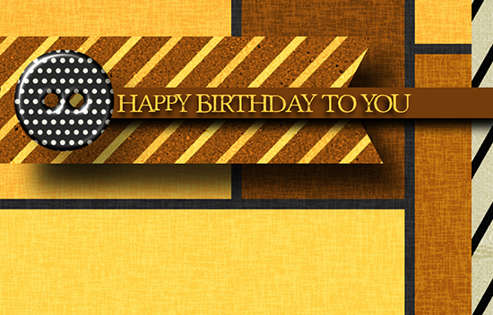 Happy Birthday Masculine Stripes Free Birthday For Him ECards 123 Greetings