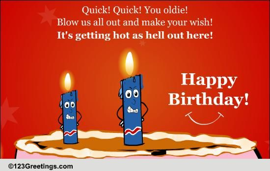 Funny Birthday Candles Free Funny Birthday Wishes ECards 123 Greetings