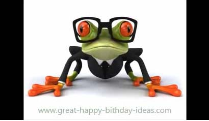 Happy Birthday Frog Song Free Funny Birthday Wishes ECards 123 Greetings