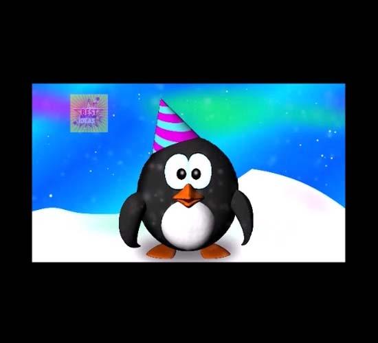 Happy Birthday Penguin Dance Free Funny Birthday Wishes ECards 123 Greetings