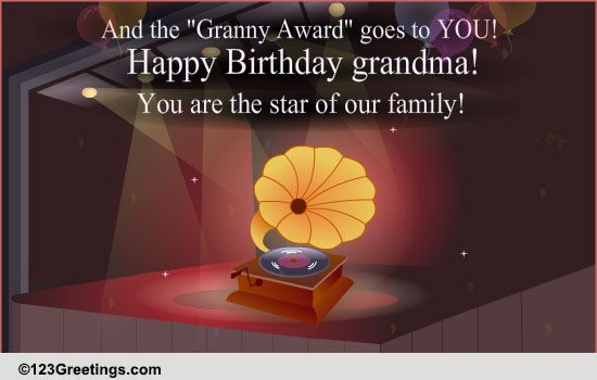 Happy Birthday Granny Free Grandparents ECards Greeting Cards 123 Greetings