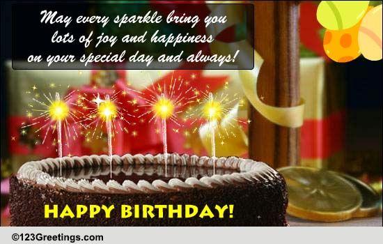 A Sparkling Birthday Greeting Free Happy Birthday ECards 123 Greetings