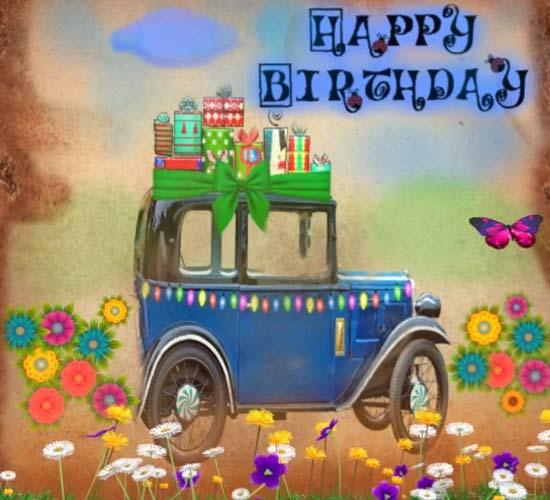 Happy Birthday Vintage Car Free Happy Birthday ECards Greeting Cards 123 Greetings