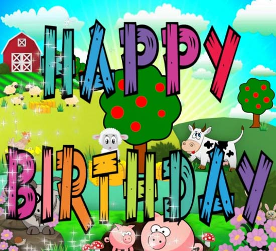 Happy Birthday Farm Free For Kids ECards Greeting Cards 123 Greetings