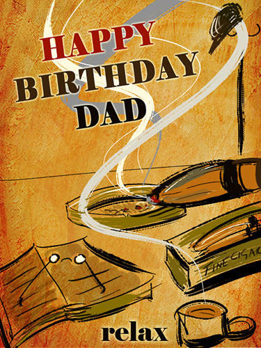 Happy Birthday Dad With A Fine Cigar Free For Mom Amp Dad ECards 123 Greetings
