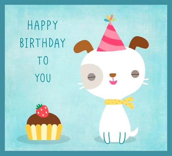Happy Birthday Puppy Free Pets ECards Greeting Cards 123 Greetings