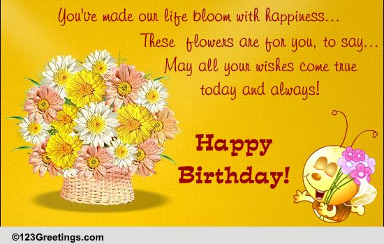 Birthday Wish For Your Child Free For Son Amp Daughter ECards 123 Greetings