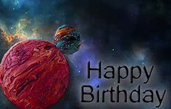 Happy Birthday To Son Cool Planets Free For Son Amp Daughter ECards 123 Greetings