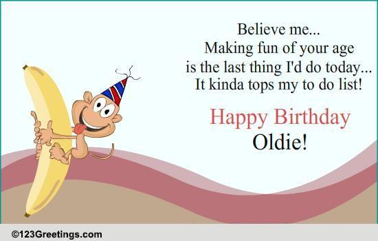 Happy Birthday Oldie Free Specials ECards Greeting Cards