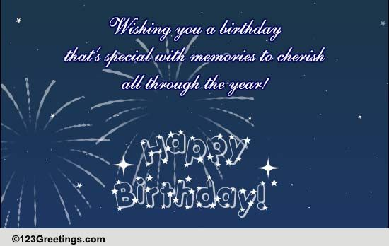 Sparkling Bday Wishes Free Birthday Wishes ECards Greeting Cards 123 Greetings