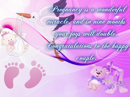A Wonderful Miracle. Free Pregnancy ECards, Greeting Cards