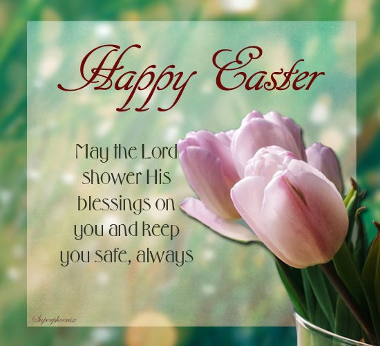 For A Safe And Blessed Easter Free Happy Easter ECards Greeting Cards 123 Greetings