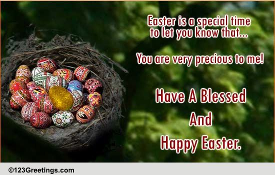 Easter Wishes For Someone Special Free Family ECards