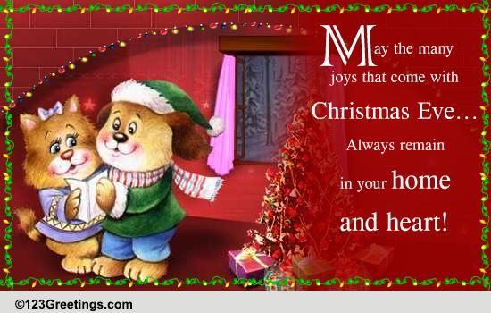 Wishing You Many Joys Free Christmas Eve ECards
