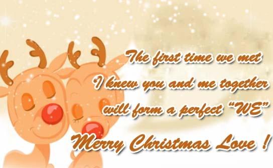 Merry Christmas My Beloved Free Love ECards Greeting