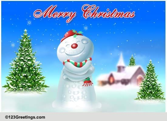 Christmas Hugs Free Merry Christmas Wishes ECards