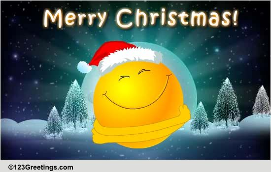 Christmas Smiley Hugs Free Merry Christmas Wishes ECards