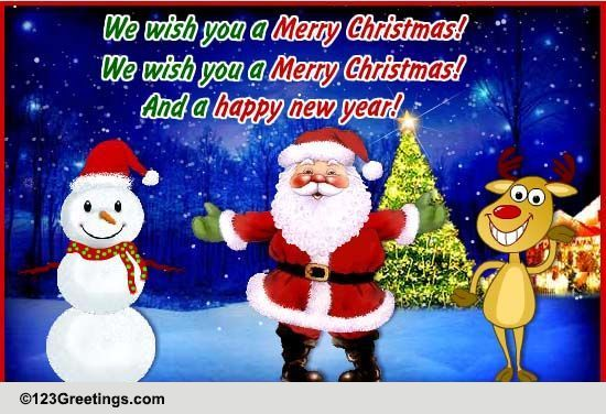 We Wish You A Merry Christmas Free Merry Christmas Wishes