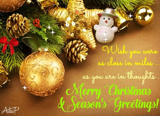 Close In Thoughts On Christmas Day Free Merry Christmas Wishes ECards 123 Greetings