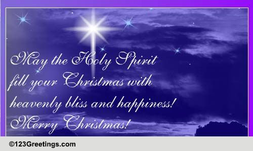 Heavenly Bliss Amp Christmas Happiness Free Religious Blessings ECards 123 Greetings