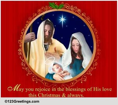 Christmas Religious Wish Free Religious Blessings