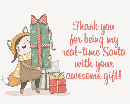 Thank Your Real Life Santa Free Thank You ECards