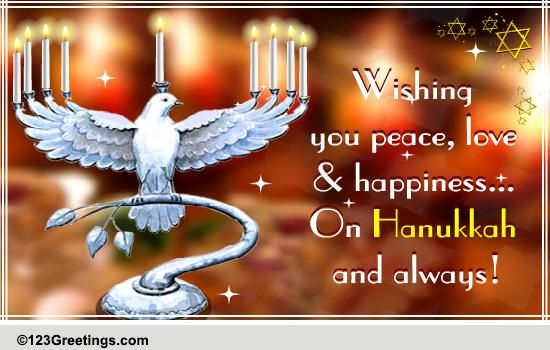Wishing You A Happy Hanukkah Free Religious Blessings ECards 123 Greetings