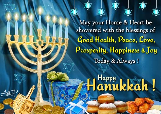 Bright Hanukkah Thank You Wishes Free Thank You ECards