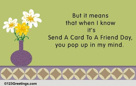 Send A Card To A Friend Day Cards Free Send A Card To A Friend Day Wishes 123 Greetings