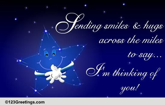 Sending Smiles And Hugs Free Miss You ECards Greeting