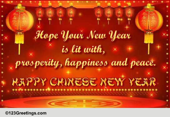 New Greetings Year Wishes Chinese