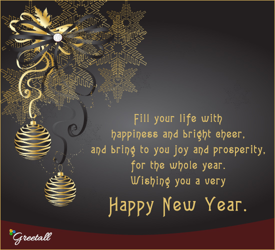 Bring To You Prosperity And Joy Free Happy New Year ECards 123 Greetings