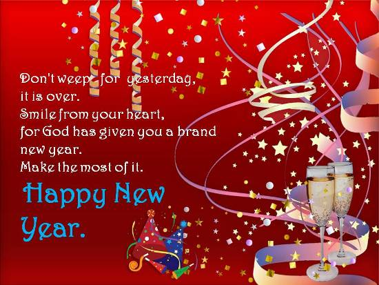 Greetings For A Very Happy New Year Free Inspirational