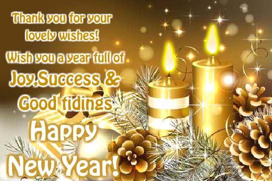 Thank You For Your Wonderful Wishes Free Thank You ECards 123 Greetings