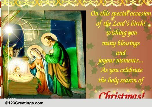 Many Blessings At Christmas Free Orthodox Christmas ECards 123 Greetings