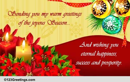Warm Greetings Of The Season Free Warm Wishes ECards Greeting Cards 123 Greetings