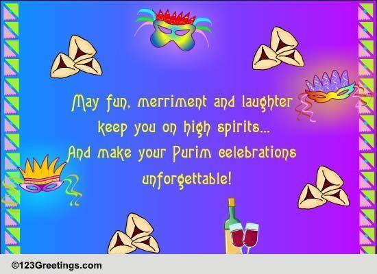 Purim Fun And Merriment Free Purim ECards Greeting Cards 123 Greetings