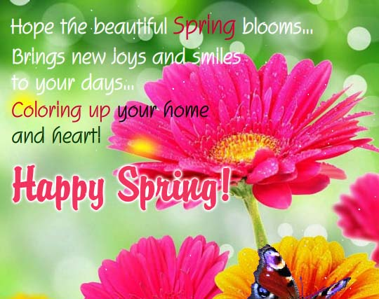 Let Spring Bloom Free Happy Spring ECards Greeting Cards 123 Greetings