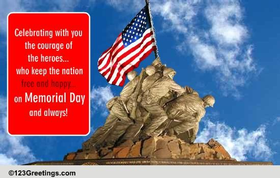 Memorial Day Patriotic Wish Free Wishes ECards Greeting Cards 123 Greetings