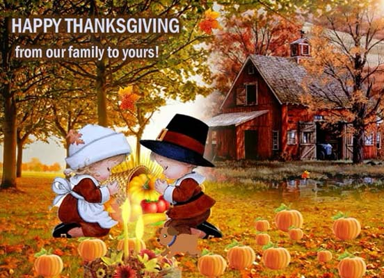 Thanksgiving Wishes From Our Family Free Family ECards 123 Greetings