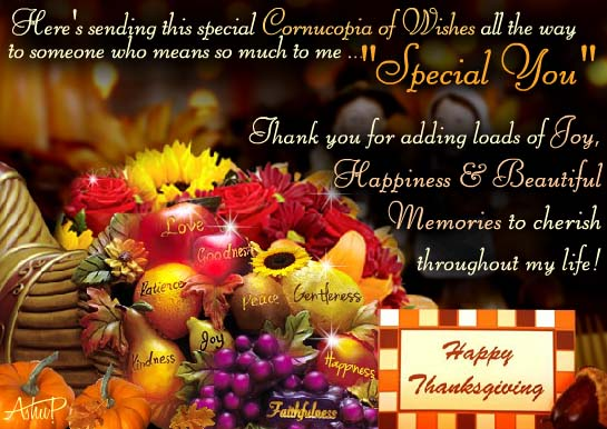 Special Thanksgiving Wishes Free Specials ECards Greeting Cards 123 Greetings