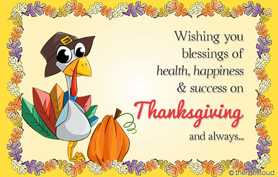 Blessings Of Thanksgiving Day Free Happy Thanksgiving ECards 123 Greetings