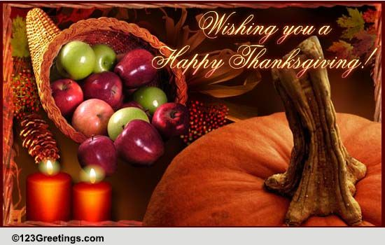Thanksgiving Wishes And Blessings Free Happy Thanksgiving ECards 123 Greetings