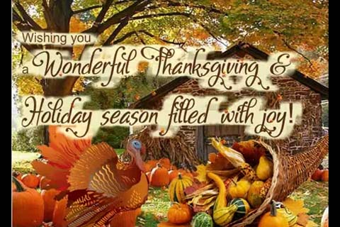 Thanksgiving Amp Holiday Season Wishes Free Happy Thanksgiving ECards 123 Greetings