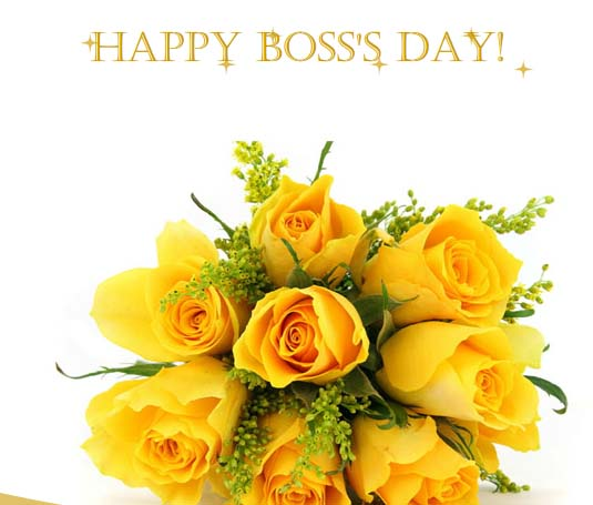 Warm Wishes For Your Boss Free Happy Bosss Day ECards 123 Greetings