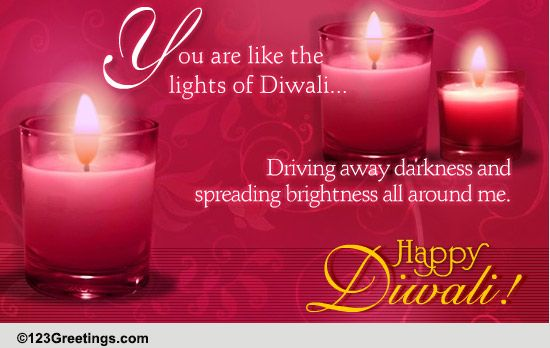 You Brighten My Diwali Free Friends ECards Greeting Cards 123 Greetings